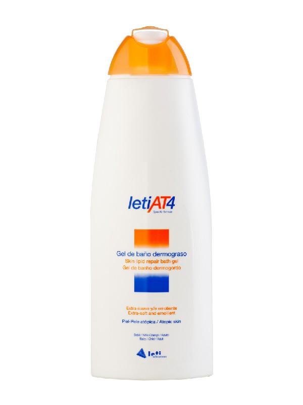 Leti at-4 gel de baño dermograso 750 ml