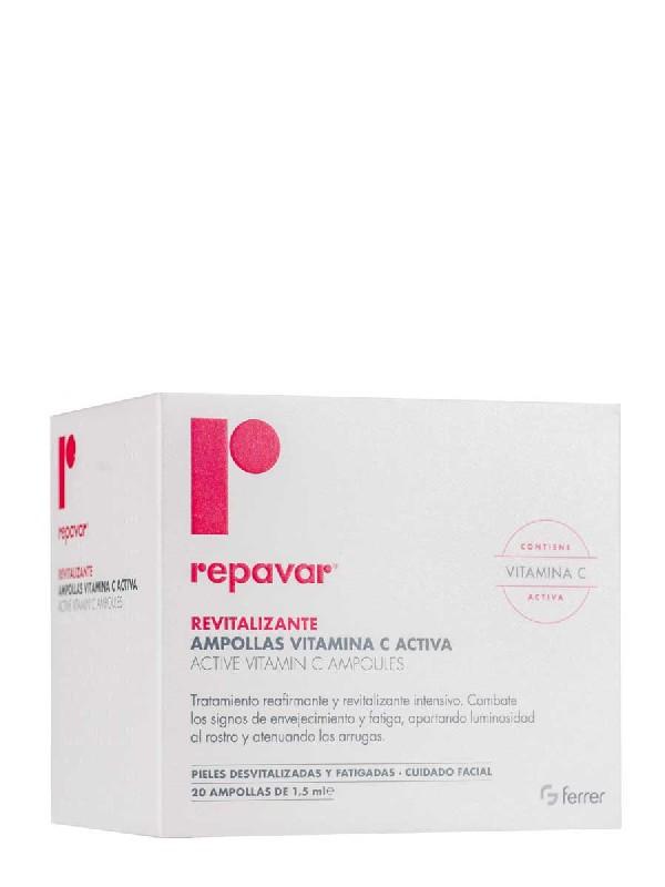 Repavar revitalizante 20 ampollas vitamina c