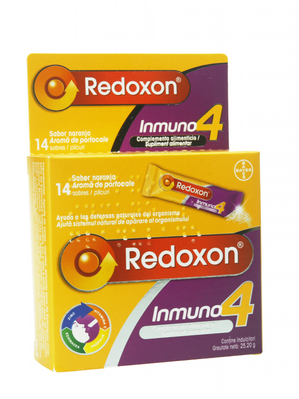 Redoxon inmuno 4 granulado 14 sobres sabor naranja