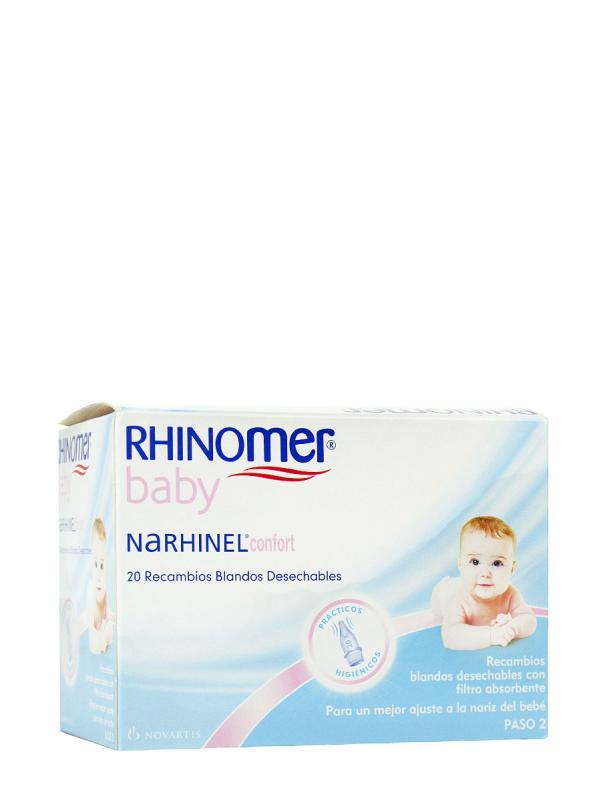 Narhinel recambios del aspirador nasal 20 unidades