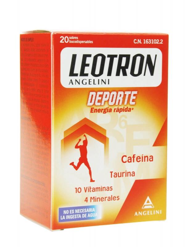 Leotron deporte fast energy sobres 20 sobres
