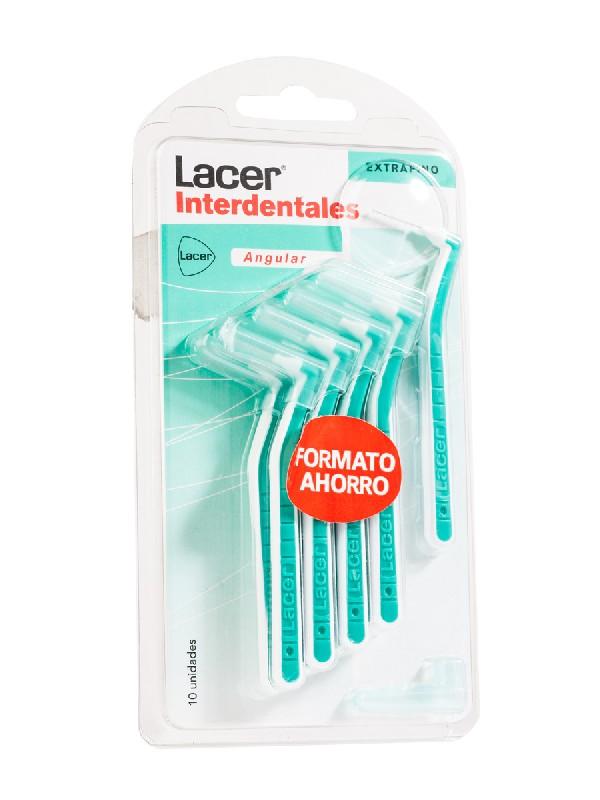 Lacer cepillo interdental angular extrafino 10 unidades