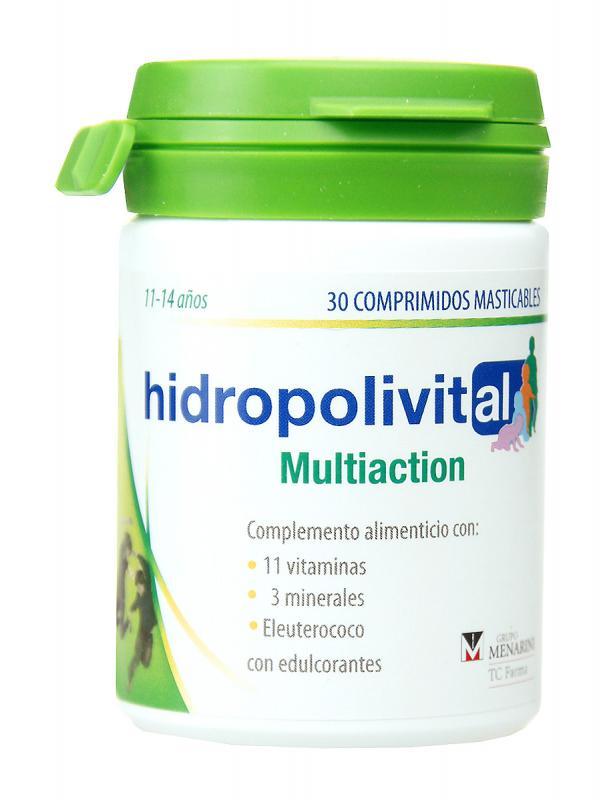 Hidropolivital multiaction 30 comprimidos masticables