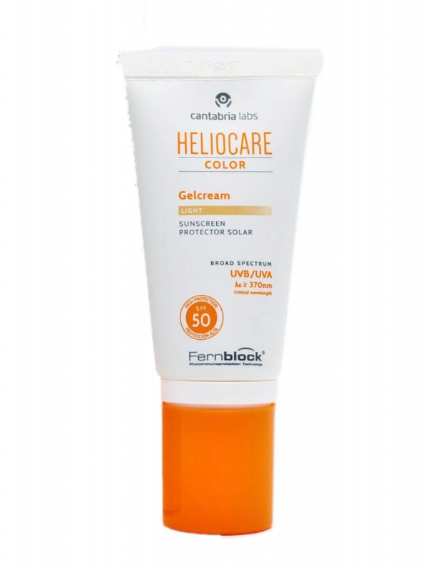 Heliocare gel crema color light spf 50 50 ml
