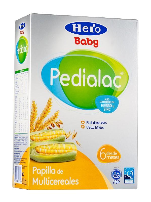 Hero baby ® pedialac papilla multicereales 500 gramos