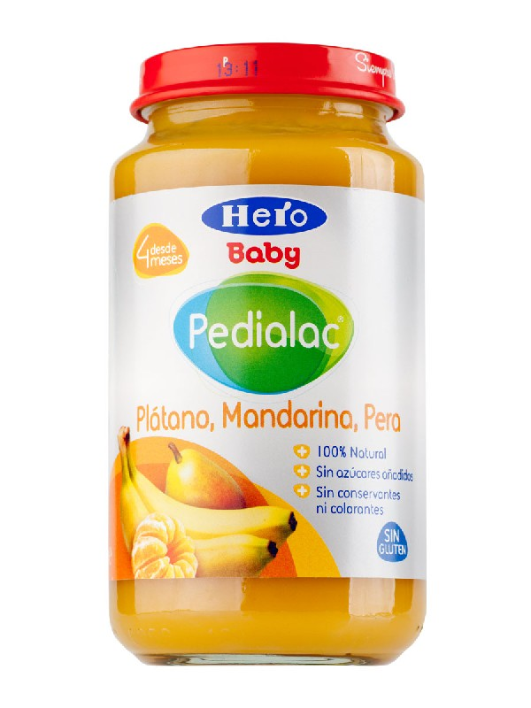 Pedialac potito plátano, mandarina, pera 250 g