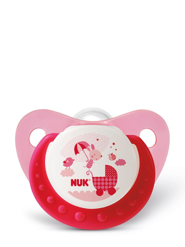 Nuk chupete de latex cotton party rosa t2