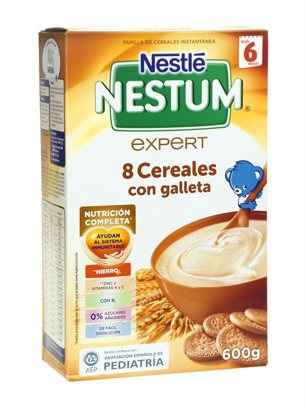 Nestle nestum papilla 8 cereales con galleta 600 gr