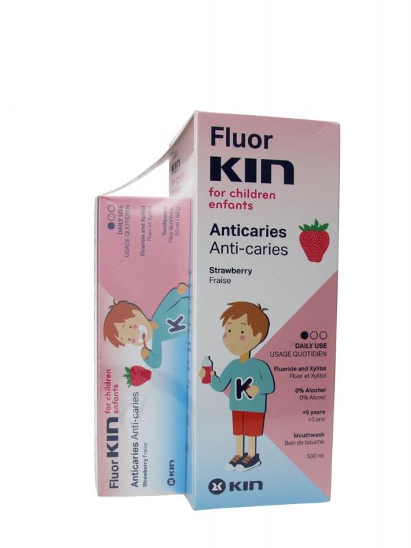 Kin fluor kin infantil enjuague bucal 500 ml