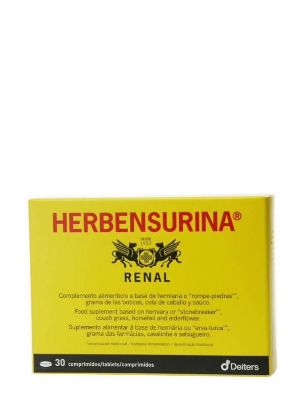 Deiters herbensurina renal 30 comprimidos