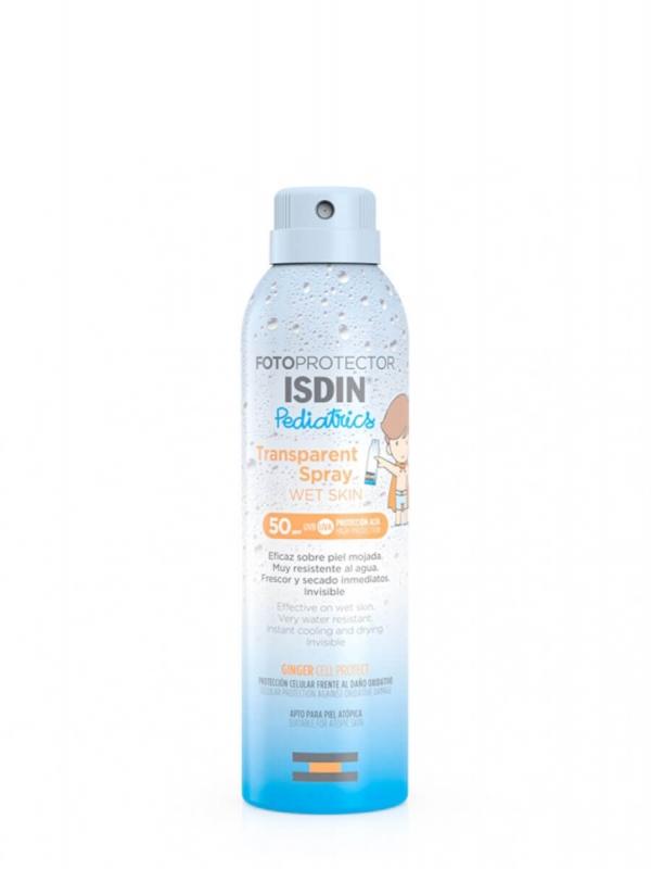 Isdin pediatrics fotoprotector transparente spray wet skin spf 50+ 250 ml