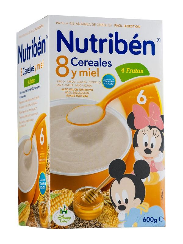 Nutriben 8 cereales y miel con 4 frutas  600gr