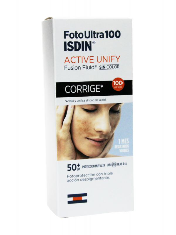 Isdin foto ultra 100 active unify fusion fluid sin color spf 50+ 50ml