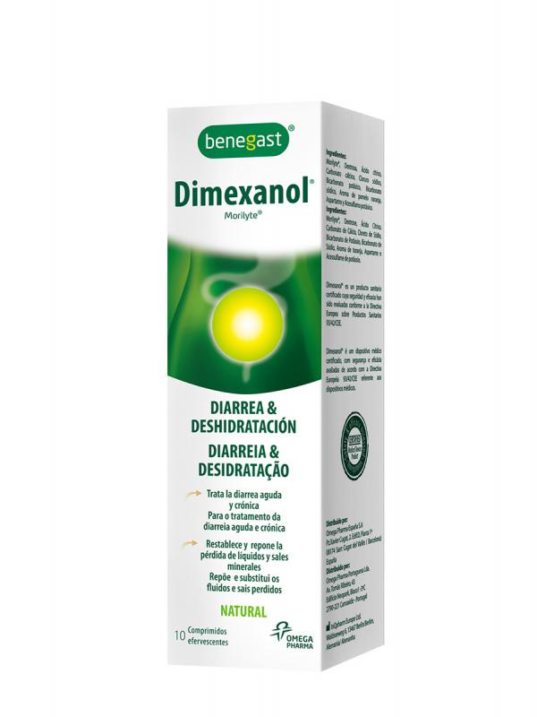 Dimexanol adultos 10 comprimidos efervescentes