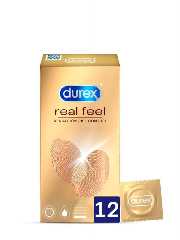 Durex real feel 12 preservativos