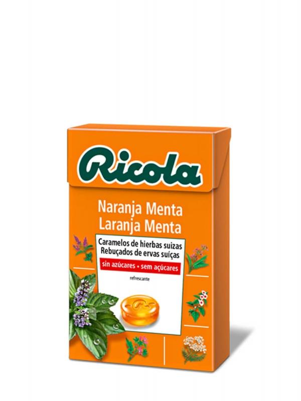 Ricola caramelo naranja-menta y hierbas suizas 50gr