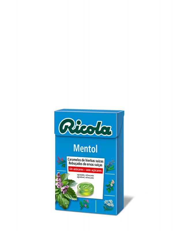 Ricola caramelo mentol de hierbas suizas sin azúcar de 50g