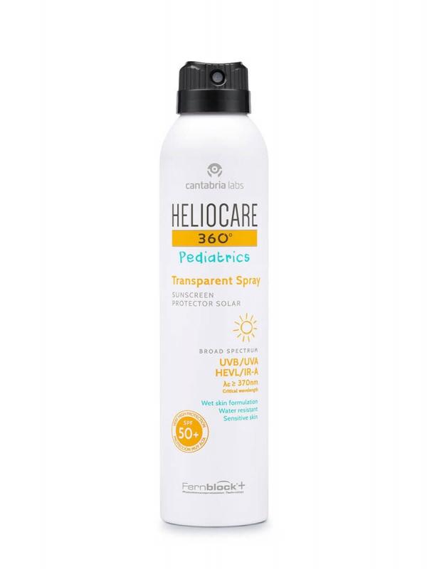 Heliocare 360º pediatrics transparent spray spf 50+ 200 ml