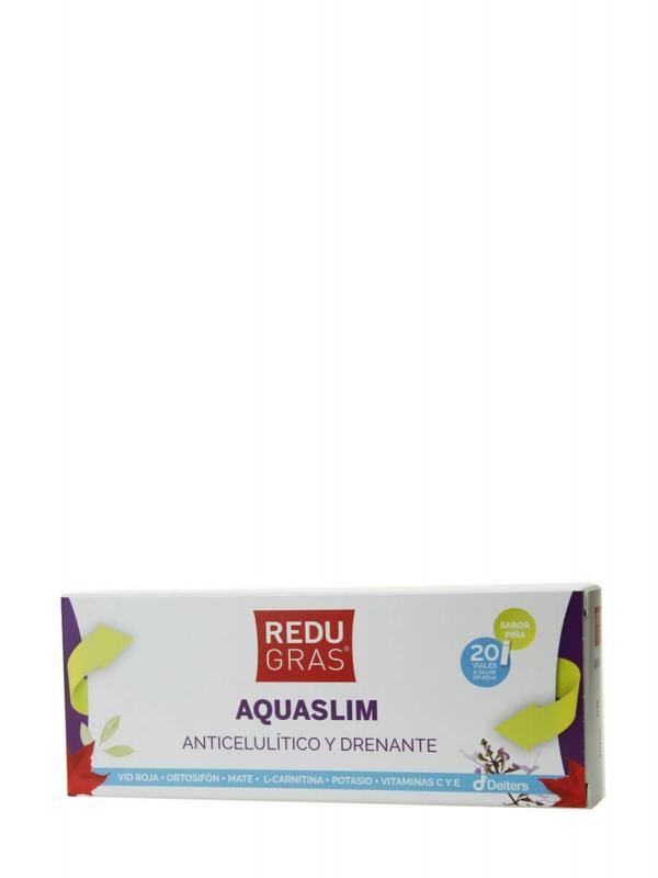 Deiters redugras aquaslim sabor piña 20 viales
