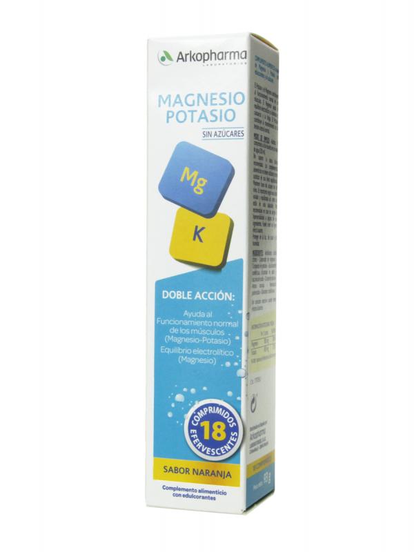 Arkopharma magnesio + potasio 18 comprimidos efervescentes