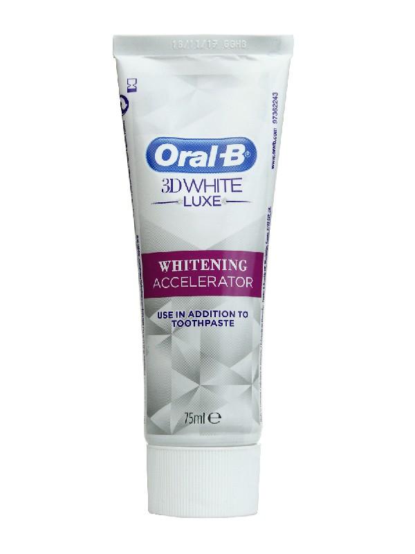 Acelerador del blanqueamiento oral b 3d white luxe