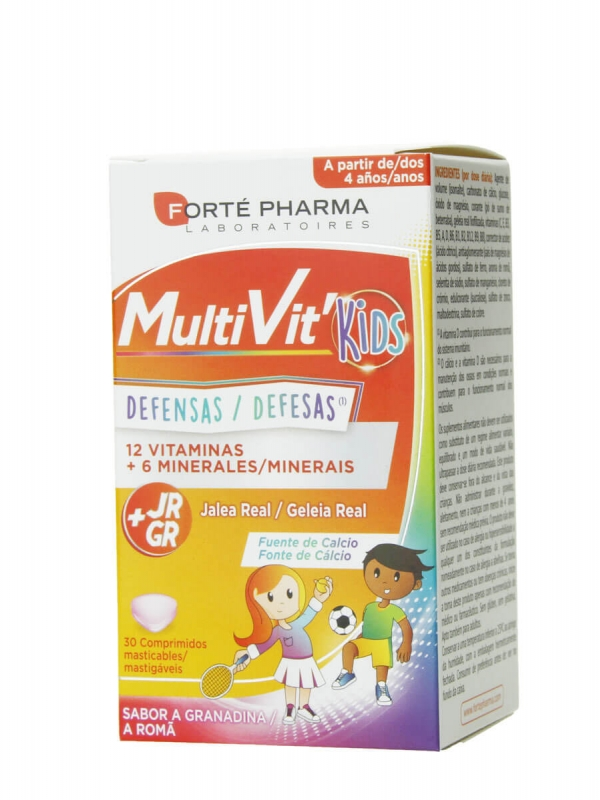 Forte pharma multivit kids defensas 30 comprimidos masticables