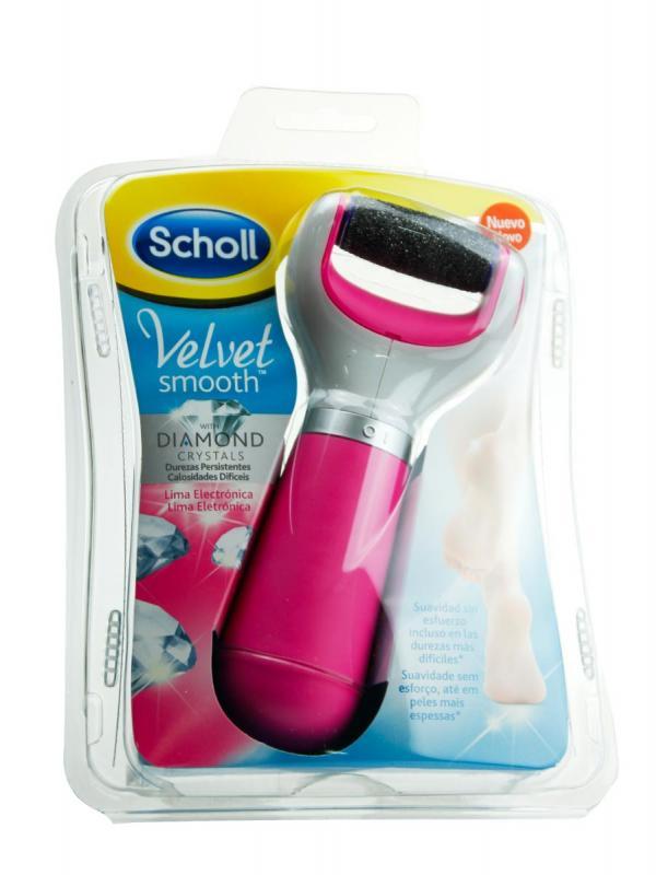 Dr scholl velvet smooth lima electrónica para pies color rosa