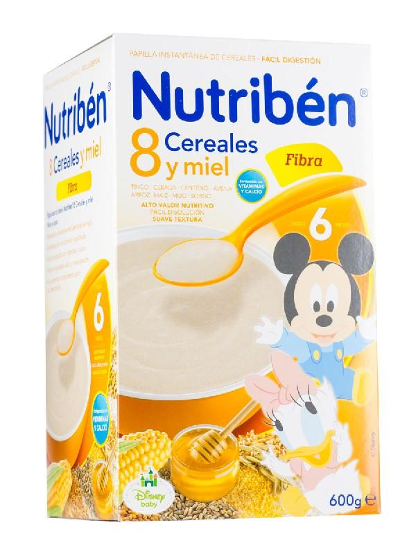 Nutriben 8 cereales y miel con fibra  600gr