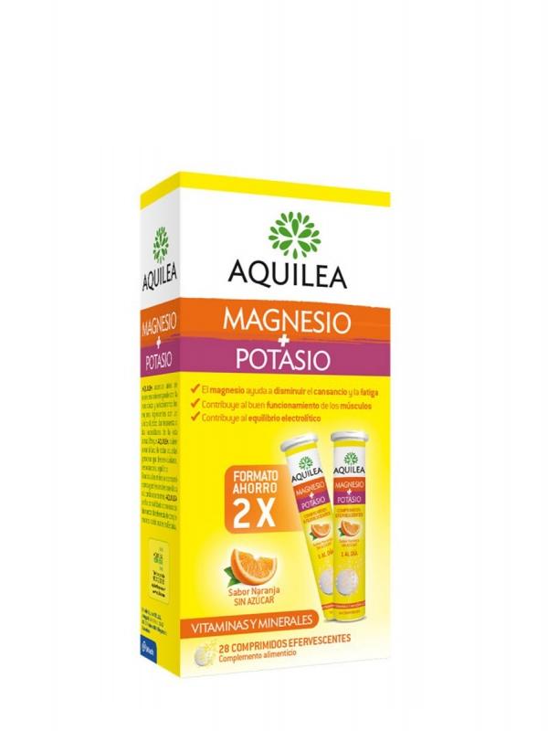 Aquilea magnesio + potasio duplo 28 comprimidos efervescentes