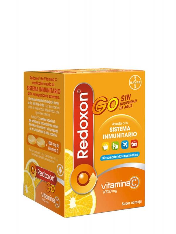 Redoxon c go sabor naranja 30 comprimidos masticables