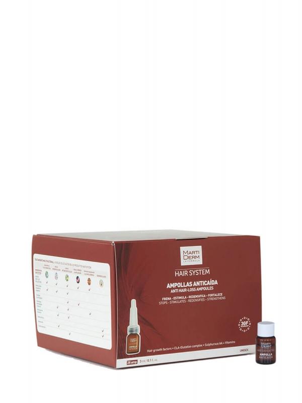 Martiderm hair system anticaída 3 gf 28 ampollas