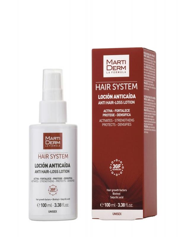 Martiderm  hair system 3 gf loción anticaída 100ml