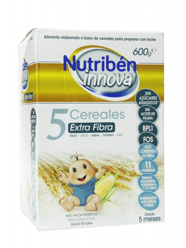 Nutribén innova 5 cereales extra fibra 600 gr