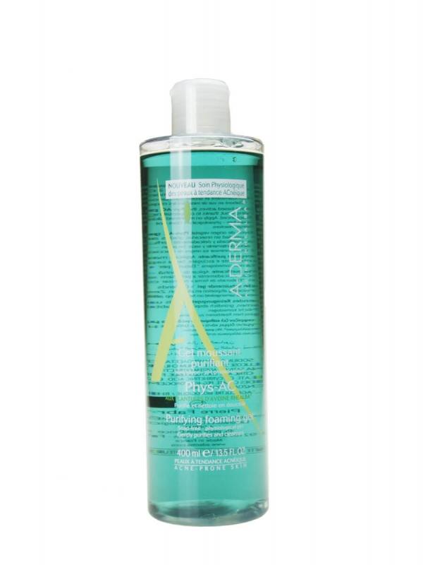 A-derma phys-ac gel purificante limpiador de 400ml