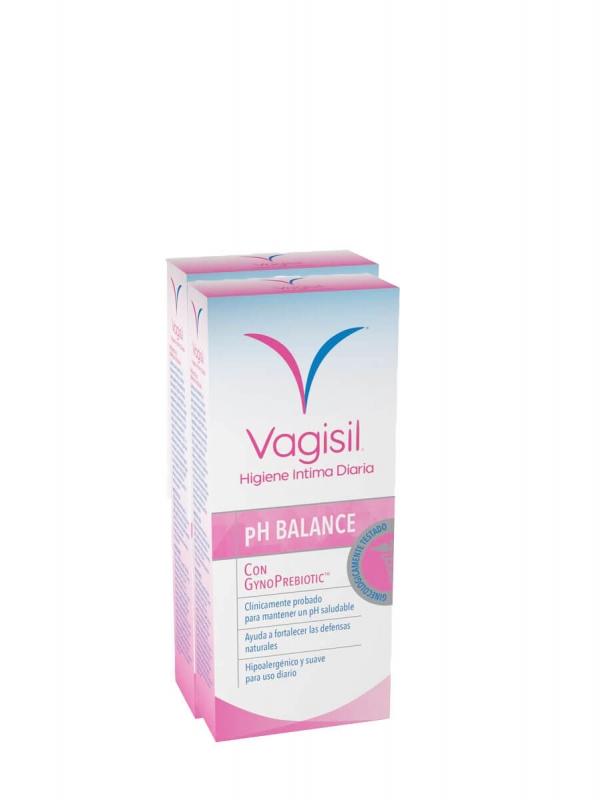 Vagisil pack duplo ph balance con gynoprebiotic 2x250 ml