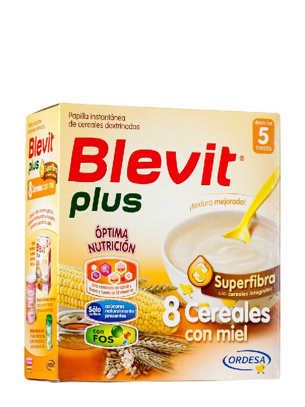 Blevit plus superfibra 8 cereales y miel 700 gramos