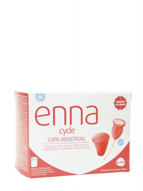 Enna cycle copa menstrual 2 unidades talla m + esterilizador