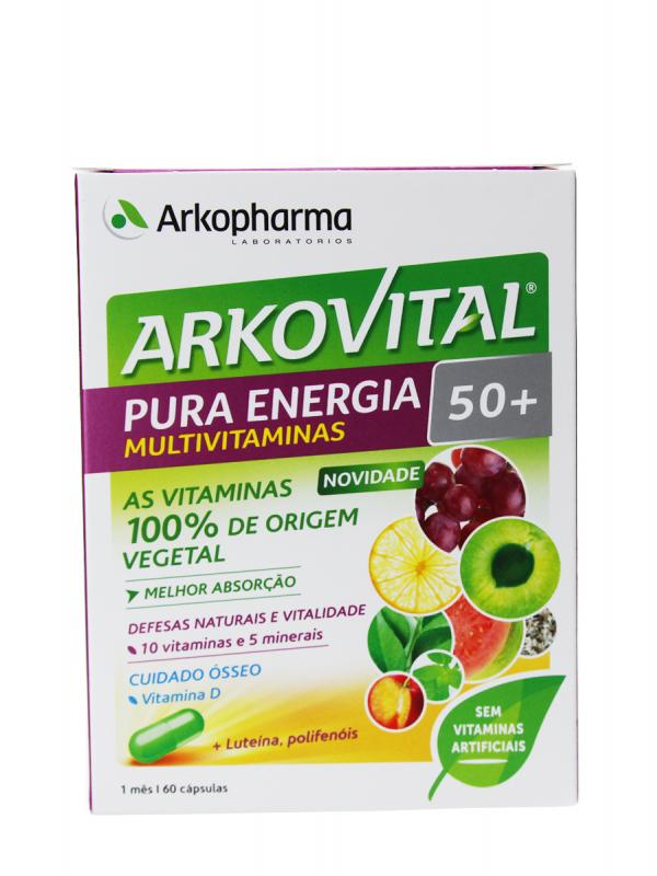 Arkovital pura energía 50+ 60 cápsulas