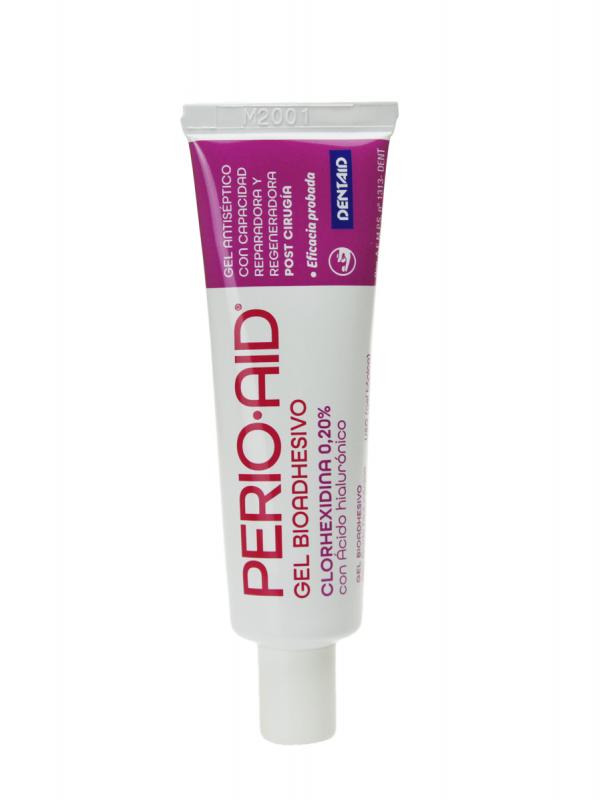 Perio aid gel bio adhesivo con clorhexidina 0.20% y ácido hialurónico 30 ml