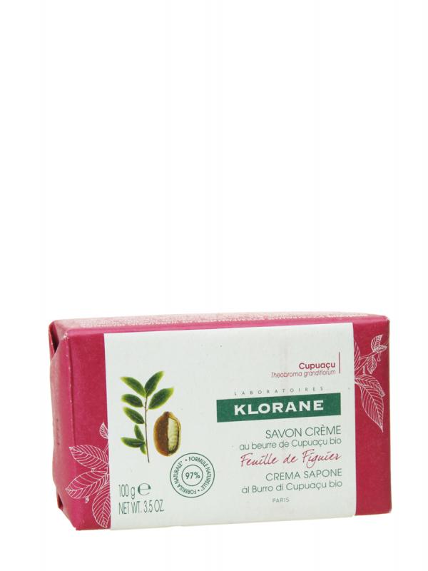 Klorane pastilla jabón crema agua hoja de la higuera 100 gr