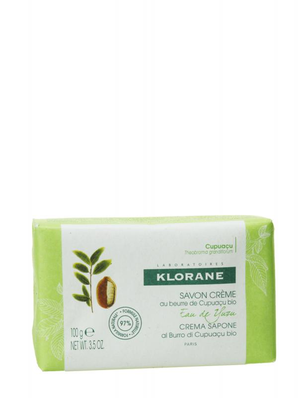 Klorane pastilla jabón crema agua de yuzu 100 gr