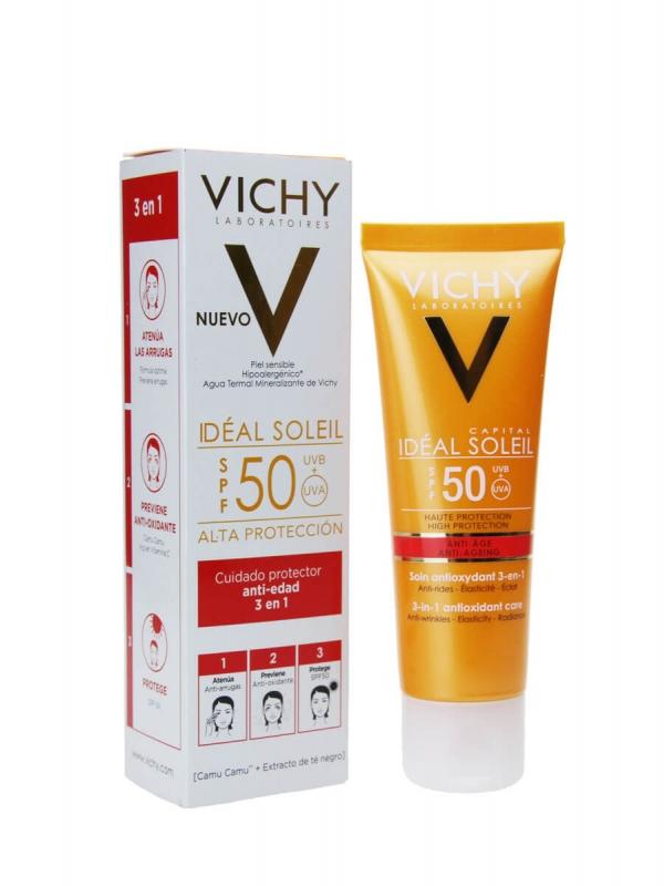 Vichy anti-edad 3 en 1 spf 50+   50ml