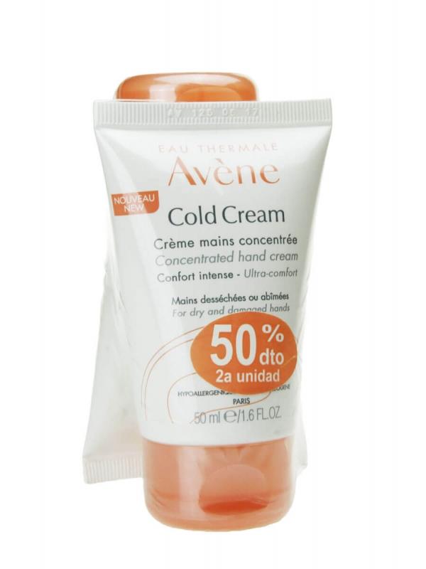 Avène cold cream duplo crema de manos 2x50ml
