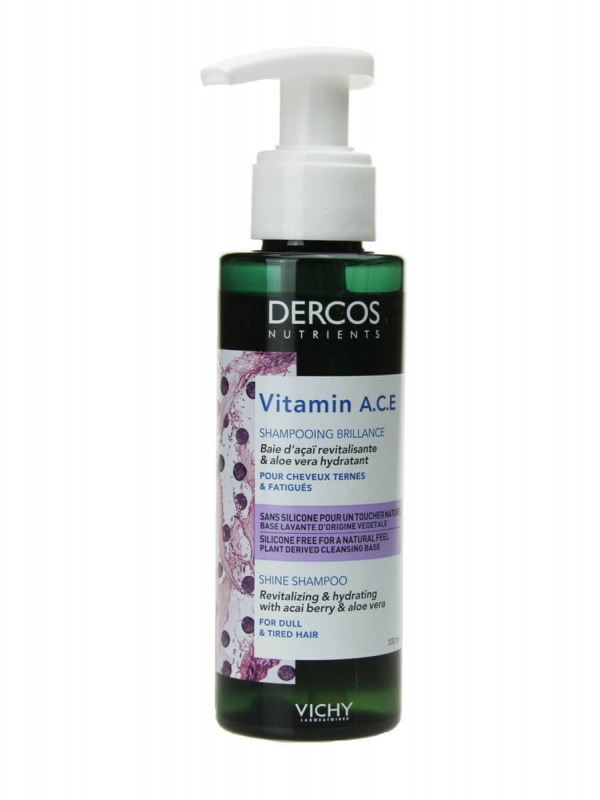 Dercos vitamin a.c.e champú brillo 100ml