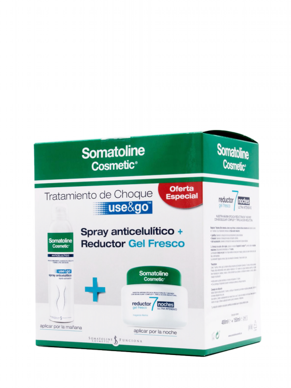 Somatoline pack gel anticelulítico + reductor gel fresco