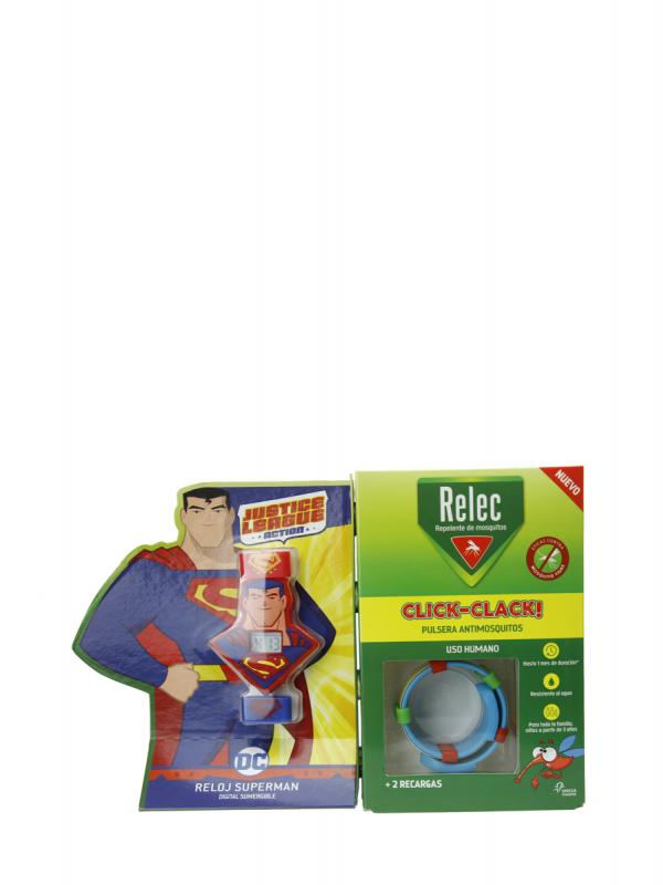 Relec pulsera reloj antimosquitos superman+2 recargas