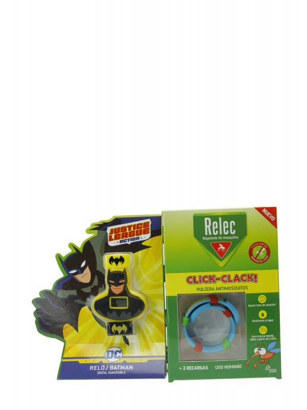 Relec antimosquitos pulsera-reloj sumergible batman