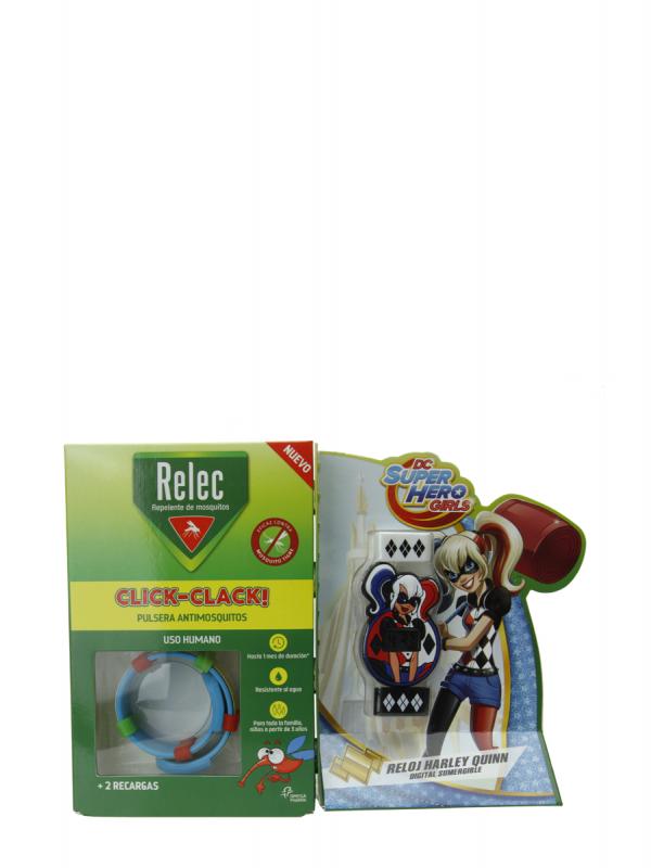 Relec pulsera reloj antimosquitos de harley quinn sumergible + 2 recargas