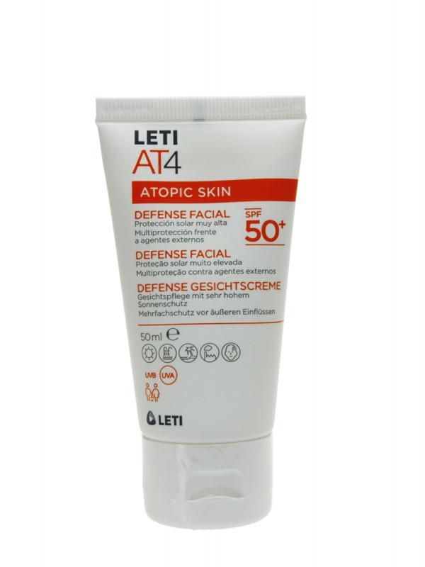 Leti at4 atopic skin defense facial spf 50+ de 50 ml