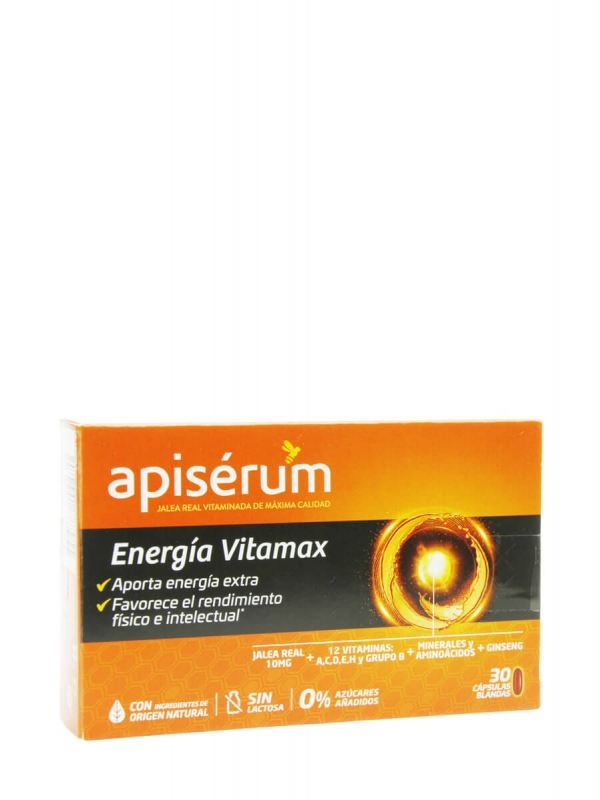 Apisérum energía vitamax 30 capsulas
